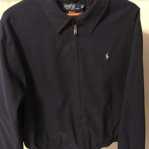 NWOT Blue Polo Jacket - XL